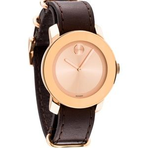 Movado Bold Unisex Rose Gold Watch